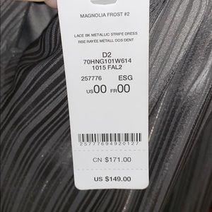 bebe Dresses - NWT Bebe lace back metallic stripe dress